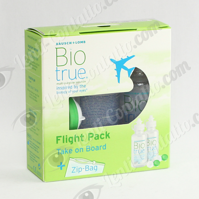 BIOTRUE FLIGHT PACK Bausch&Lomb liquido manutenzione 2x60ml