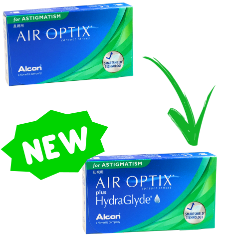 Alcon Ciba Vision AIR OPTIX for ASTIGMATISM plus Hydraglyde lenti-contatto 3 lenti